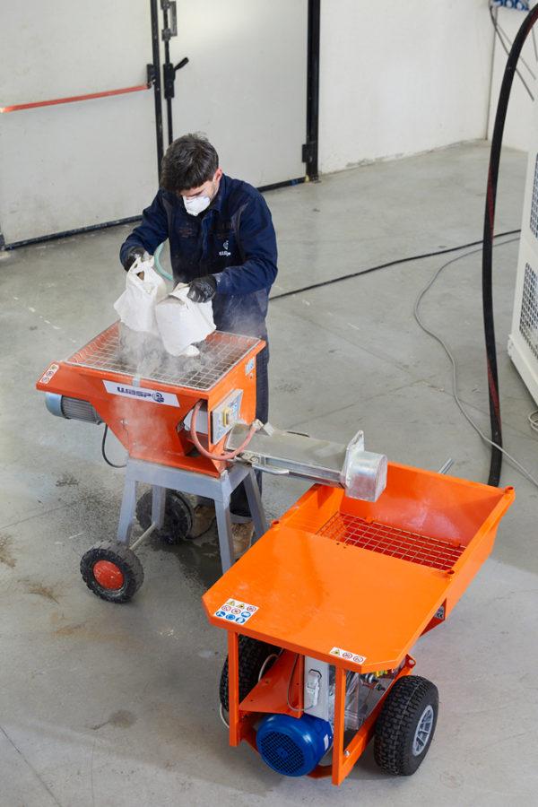 Pompa continua per cemento stampante Delta Wasp 3MT Concrete